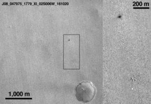La foto del cratere di Schiaparelli su Marte