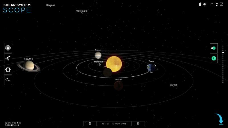 Esplora virtualmente il sistema solare